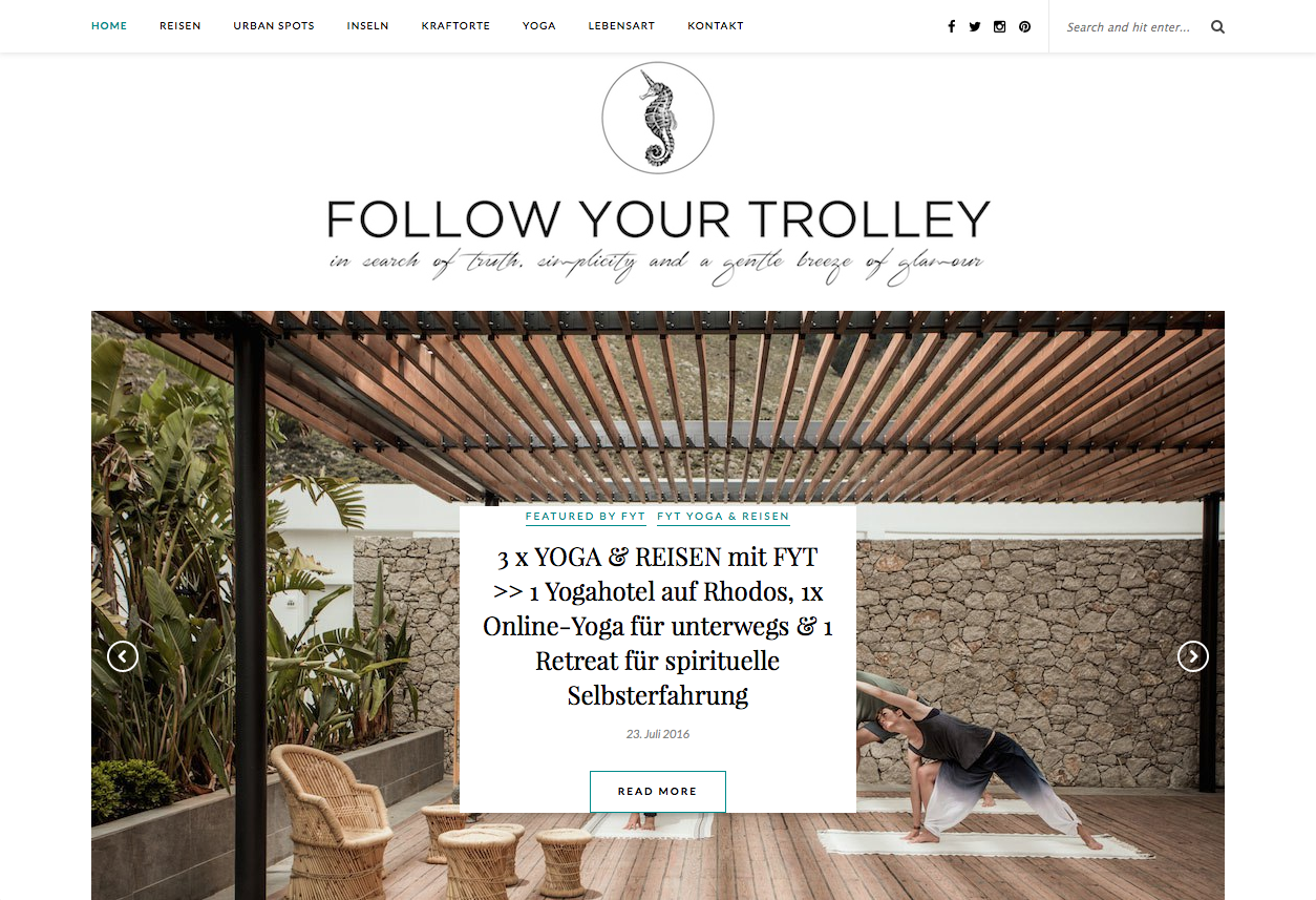 Follow your trolley, Reiseblogs