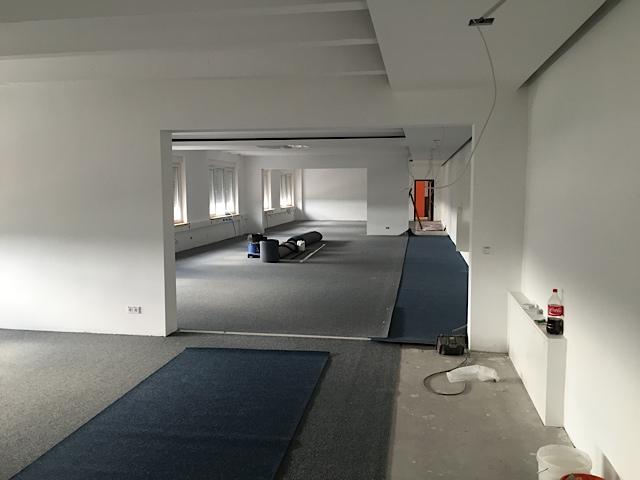Eingang, Büro, anndora, Umzug, Umbau, Großraumbüro