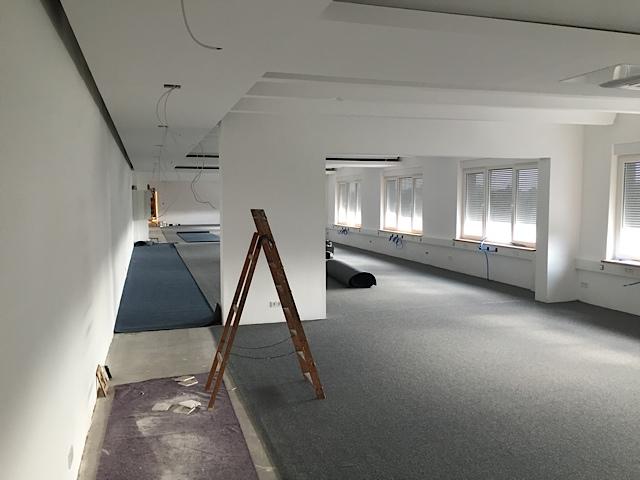 Büro, anndora, Umzug, Umbau, Großraumbüro