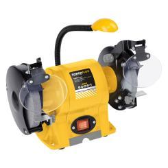 Powerplus Schleifmaschine 350 Watt - Doppelschleifer + LED Arbeitsleuchte