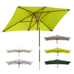 Sonnenschirm rechteckig 2,5x1,5m Balkonschirm, Gartenschirm - Farbwahl