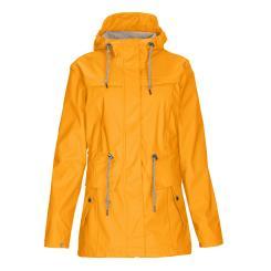 Regenjacke Damen gelb Gr. 36 Wetterjacke Parka wasserdicht Funktionsjacke Regenmantel