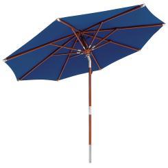 anndora Sonnenschirm Knicker 3 m rund mit Dreh-Kipp-Mechanismus Navy Blau