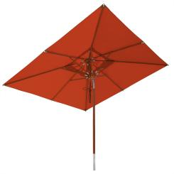 anndora Sonnenschirm Knicker 3 x 3 m mit Dreh-Kipp-Mechanismus Terracotta