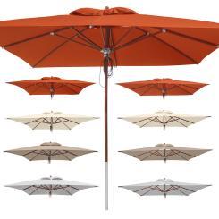 anndora Sonnenschirm Deluxe 3 x 4m, 4 x 4m, 5m rund, UV-Schutz Auswahl