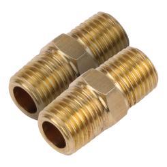 Druckluft Universalverbindung 1/4 Gewinde Doppelkupplung 2 Stk.