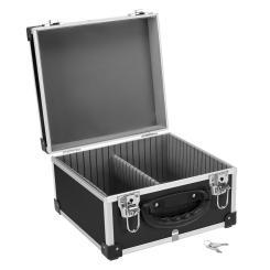 DJ CD-Koffer Alukoffer für 40 CDs mit Schlüssel DJ Case Box Innenraum gepolstert