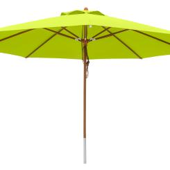 anndora Sonnenschirm Marktschirm 4 m rund - mit Winddach Apfelgrün / Limette