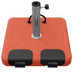 Sonnenschirmständer rollbar 45 kg + 5 Adapter-Ringe Terracotta
