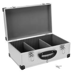 DJ CD-Koffer Alukoffer für 60 CDs mit Schlüssel DJ Case Box Innenraum gepolstert