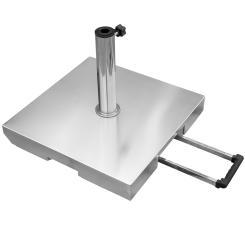 Sonnenschirmständer Schirmständer rollbar 55 kg - Granit-Kern + 5 Adapter-Ringe