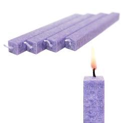 Wachskerze 4 Stück Lavendel amabiente - Stabkerze Stearin Hochzeitskerzen 19 cm