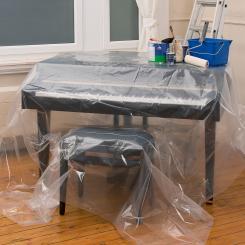 Schutzfolie Malerfolie 20 m² - Stärke 0,03 mm / 0,01 mm transparent - Modellwahl