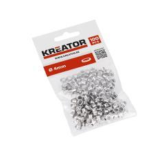 Eylets Ösen Ringösen Ösensortiment Silberfarben 100 Stück 4mm