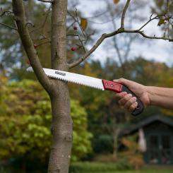 Kreator Handsäge Holzsäge 30cm rosttfrei hartverchromt Stahlsäge + Schutzhülle