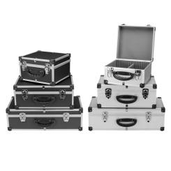 DJ CD-Koffer Alukoffer Aluminiumbox DJ Case Box 40 - 80 CDs + Schlüssel Auswahl