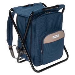 Sitzrucksack Campingstuhl Hocker Rucksack mit Kühler, isolierte Picknicktasche
