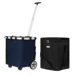 reisenthel carrycruiser dunkelblau 40 L + anndora Kühlbox 32 L schwarz
