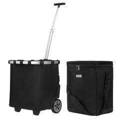 reisenthel carrycruiser schwarz 40 Liter + anndora Kühlbox 32 Liter schwarz