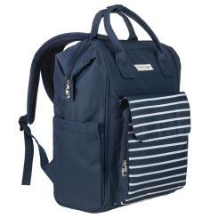 Rucksack und Tragetasche für Business und Freizeit - blau