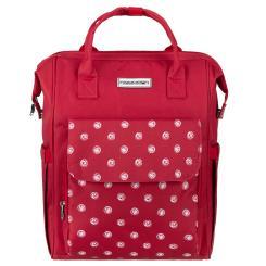 Rucksack und Tragetasche für Business und Freizeit - rot weiß
