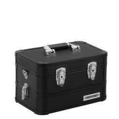 anndora Universalkoffer Etagenkoffer 13 Liter Werkzeugkiste 2 Ebenen - Schwarz