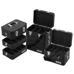 anndora Multikoffer Mehrzweckkoffer Etagenkoffer Werkzeugkiste Schwarz - Auswahl