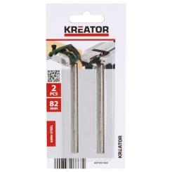 Kreator 2 Ersatz-Hobelmesser 82mm Ersatzmesser Klingen für POWX111 und POWXQ5502