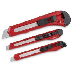 Kreator Cuttermesser 3 Stück 9mm 18mm Abbrechklinge Schieberaster Teppichmesser