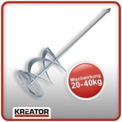 Kreator Rührstab 60 cm lang ø 16 cm Gewinde M14 Rührer Rührquirl für Rührwerk