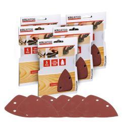 Kreator 5 Schleifblätter 140x140x80 mm für Handschleifer - Körnung zur Auswahl