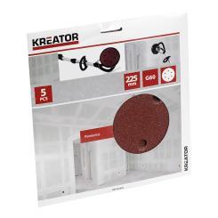Kreator 5 Schleifscheiben für Trockenbauschleifer - ø 225 mm Körnung G60