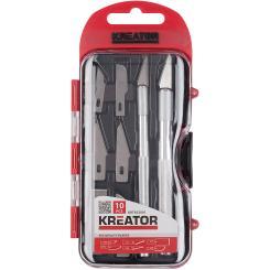 Schnitzmesser Set 10 teilig + Aufbewahrungsbox - Modelliermesser Messer Kreator