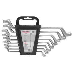 Ringschlüssel Set 8 tlg. 6-22 mm Werkzeugstahl inkl. Wandhalterung
