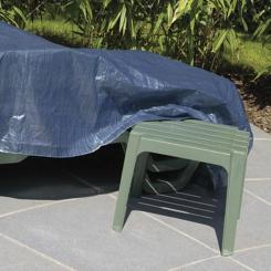 Abdeckplane 6 x 10 m - 70 g/m² - Gewebeplane Poolabdeckung Zeltplane Garten Blau