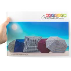 GRATIS anndora Sonnenschirm Katalog - Balkonschirme Ampelschirme Gartenmöbel