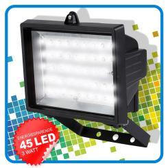 LED Flutlichtlampe, LED Außenleuchte 45 LED, 3 Watt