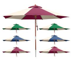 Sonnenschirm 3 m + 3,5 m rund - Design Schirm