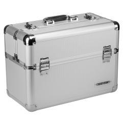Werkzeugkoffer 24L Präsentationskoffer Etagenkoffer Silber + Schlüsse