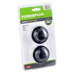 Powerplus 2 Stk. Ersatzspulen 2-Fadenspule für Rasentrimmer POW6015 und POW6017
