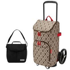 reisenthel Einkaufstrolley rack + bag 45 Liter diamonds mocha + mini Kühltasche