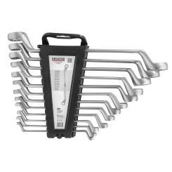 Ringschlüssel Set 12 tlg. 6-32 mm Werkzeugstahl inkl. Wandhalterung