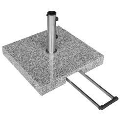 Sonnenschirmständer Granit - 55kg rollbar Teleskopgriff hellgrau