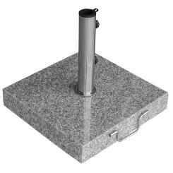 Sonnenschirmständer Granit 40kg rollbar hellgrau poliert