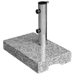 Sonnenschirmständer Granit 25kg Balkonständer max. 48mm Stamm - hellgrau