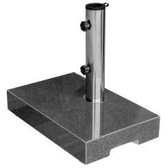 Sonnenschirmständer Granit 25kg Balkonständer max. 48mm Stamm - dunkelgrau