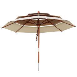 Sonnenschirm 3-lagig rund 3,5 m khaki