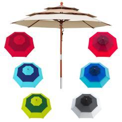 Sonnenschirm 3,5 m rund - Design Schirm mehrlagig