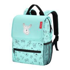 reisenthel Rucksack Kinder 5 Liter backpack cats and dogs -  Mint Polyester mit Reflektor 21x28x12 cm