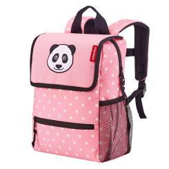 backpack kids panda dots pink